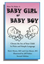 Washington Publishers - Gender Selection Baby Girl or Baby Boy - choose the sex of your child
